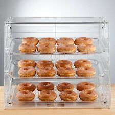 PASTRY SELF SERVE DISPLAY CASE 3 TRAYS BAKERY DELI STORE CANDY MOVIE more
