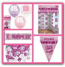 18th Happy Birthday Party Supplies Decorations Pack In Pink