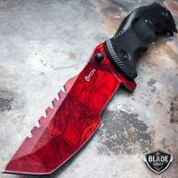 "9"" CSGO Tactical RED RUBY Tracker Huntsman Spring Assisted Folding Pocket Knife"