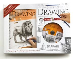Simply Drawing Book & DVD For Artist NEW