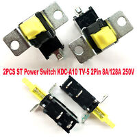 2PCS Replacement ST Power Switch T85 KDC-A10 TV-5 2-Pin 8A/128A 250V Accessories