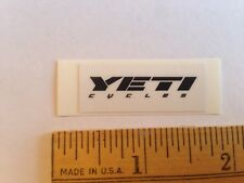 "1 7/16"" Yeti Cycles Black/White Axe Mtb Bicycles Bike Frame - Sticker Decal"