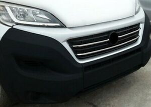 Chrome Front Grille Trim Accent Covers Set To Fit Fiat Ducato (2014