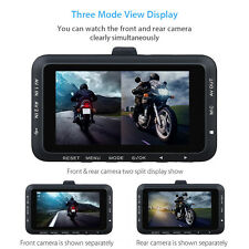 Mini Motorcycle Dual Camera Motorbike Dash Cam Video DVR Camcorder 1080p Fast