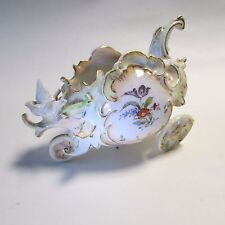 Antique German Volkstedt Porcelain Figurine Chariot/Carriage with Birds