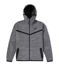 NIKE TECH KNIT WINDRUNNER FULL ZIP HOODIE JACKET GREY BLACK 728685 043 sz XL
