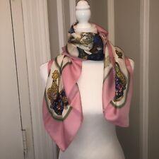 "Gorgeous Hermes Silk Scarf 36"" x 36"" Pristine & Stunning"