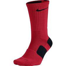 Nike Elite Cushioned Men's Crew Basketball Socks Sz 8-12  SX3629-650 Red NWT!!!