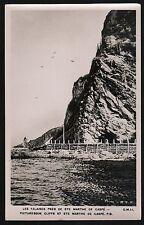 Postcard RPPC Les Falaises Pres De Ste Marthe De Gaspe PQ Quebec Cliffs