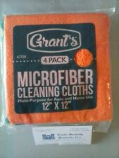 "4 Pack 12"" x 12"" Microfiber Cleaning Cloths ~ Free Usa Shipping !"