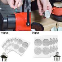 40/60 Aluminum Foil Coffee Capsule Seal Lids Pods Sticker Replace  For Nespresso