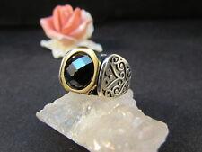 Silberring Männerring Siegelring Ring Sterlingsilber 925 Handarbeit Onyx Gr 64
