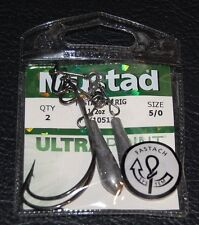 Pack of 2 Mustad KVD FASTACH X-RIG FTX 10512 3//0 Hook 1//4 oz Weight FTX10514-30
