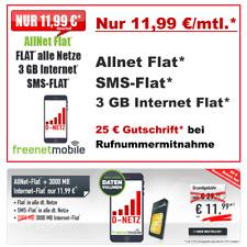 Handyvertrag mit Allnet Flat Sim Only Smartphone Vertrag 3 GB Internet Flatrate