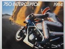 Honda motorcycle brochure 750 Interceptor Uncirculated high quality color '84 Nm