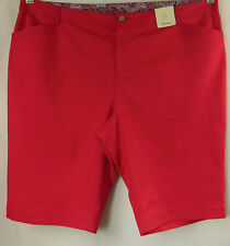 beme Pink Stretch Straight Knee Length Shorts Pants Plus Size 26 # H49