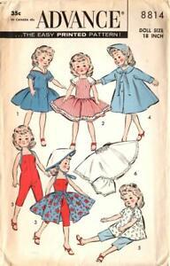 "Miss Revlon Doll Clothes Pattern 8814 Toni Home Permanent 18"" High Heel Fashion"