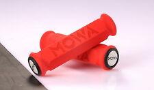 MOWA GR01 Foam Mountain MTB BMX Bicycle Bike Handlebar Grips w/end caps Red