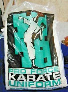 New In Original Packaging Pro Force Karate Uniform Size 2 Stock #26721