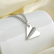 Silver Necklace Paper Plane Toward One Direction Pendant Harry Style Friendship