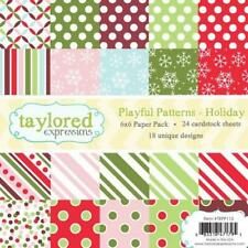 TAYLORED EXPRESSIONS  6X6 PAPER PACK - PLAYFUL PATTERNS - HOLIDAYS  TEPP115