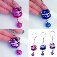 Cute Lucky Cat Key Chain Multicolor Key Ring Pendant Keychains Bag Car New E2I1