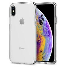 Original Spigen Protective Cover iPhone XS X Liquid Crystal Case Transparent