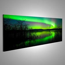 Nordlichter Bild auf Leinwand XXL Bilder AAU-Pano