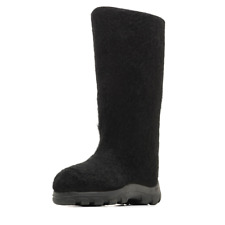 Women's Black Valenki Boots Felt Outdoor Snow Boots from Russia Size 7 ВАЛЕНКИ