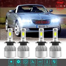 For Chrysler Crossfire 2004-2008 6000K H7 LED Headlight High Low Beam Combo Kit