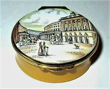 CRUMMLES ENGLISH ENAMEL BOX - VICTORIAN CITY STREET SCENE - LONDON - NEW YORK