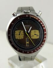 Vintage Seiko 6138-0040 Bullhead Automatic Chronograph Men's Steel Watch c.1976