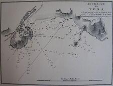 MOUILLAGE DE TOSA, 1862, GAUTTIER, PLANS PORTS RADES MER MEDITERRANEE....