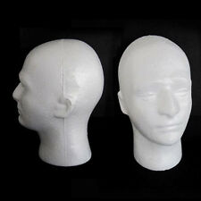 Male Mannequin Doll Heads Foam Manikin Training Head Model Wig Glasses Hat Stand