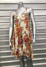 b54aa307100bf FREE PEOPLE Floral Boho Gypsy Trapeze Asymmetrical Sequin Tank Dress