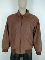 TIMBERLAND COWHIDE CAPPOTTO in PELLE di MUCCA Giubbotto Giacca Tg It: XL Uomo