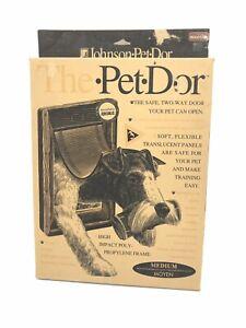 "Johnson The Pet Dor ~ Pet Dog Door Medium Wood Tone 8"" X 11½"" Flap Opening New"