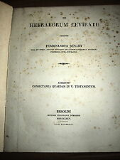 (1835) The Hebrew's brother. De Hebraeorum Leviratu. OLD TESTAMENT BIBLE antique