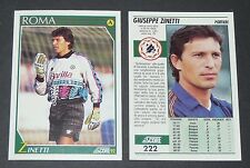 222 ZINETTI AS ROMA FOOTBALL CARD 92 1991-1992 CALCIO ITALIA SERIE A