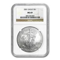 2001 Silver American Eagle MS-69 NGC - SKU #4848