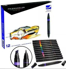 Prismacolor Premier Marker 12 Double Ended Art Markers New