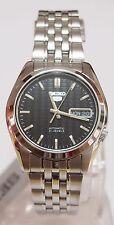 SNK361 SEIKO 5 Stainless Steel Band Automatic Men's Black Watch SNK361K1 New !