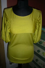 JAEGER BRAND NEW TOP, CITRUS COLOUR ALL-YEAR WEAR, SIZE SMALL, SILK AND COTTON