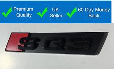 SQ3 Grille Badge Gloss Black Universal Emblem Badge for Q3 SQ3 Black Out