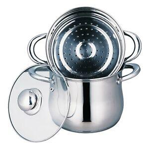 Couscoussier AB COOK en acier inoxydable compatible tous feux dont induction