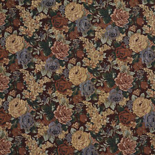 F924 Red And Green Floral Tapestry Upholstery Fabric By The Yard
