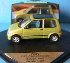 FIAT 500 CINQUECENTO SOLEIL 1996 METALIE GREEN VITESSE V095 1/43 VERT METAL