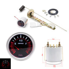 "Car Auto 2"" 52mm Fuel Level Gauge Meter With Fuel Sensor Red LED Pointer E-1/2-F"