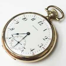 E. Howard 14k Solid Gold Wind Up Vintage Pocket Watch 16s 17Jewels Circa 1903