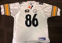 Reebok Pittsburgh Steelers Hines Ward #86 NFL 75th Season Jersey Sz 54 NWT